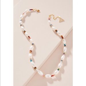 Anthropologie Clara Pearl Necklace By Serefina